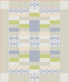 Free Queen Size Pattern: Riley Blake simple pattern. Great for beginners. Would look great with batiks.