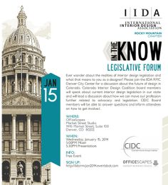 IIDA Rocky Mountain Chapter | IN THE KNOW Legislative Forum