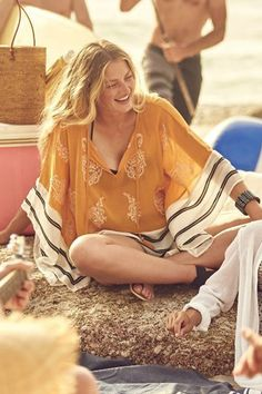 Beach With a Vintage Flare Cover Up #beach #sun #surfergirl #stylish #beachwedding #cruise #pensacolabeach #style #fortlauderdale #myrtlebeach