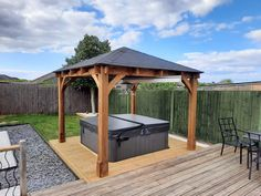 The Atlas x wooden garden structure is the ideal centrepiece for all gardens. Do you want to add something to your hot tub and give it a little character? Well, the Atlas garden gazebo is the answer. Wooden Garden Gazebo, Backyard Gazebo, Pergola, Garden Buildings, Garden Structures, Outdoor Structures, Garden Projects, Garden Ideas, Roof Design