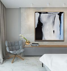 Original Large Abstract Art Painting On Canvas Black Grey Blue Square wall art Contemporary Abstract Art, Abstract Wall Art, Modern Art, Red Wall Art, Wall Art Decor, Art Blanc, Minimalist Art, Minimalist Painting, Decoration