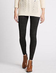 Cotton Rich Herringbone Leggings