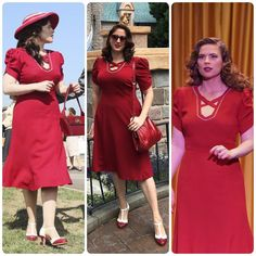 6329e3400 Dapper Day Disneybound as Agent Carter I modified  butterick  6018 and found  the shoes