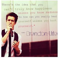 Brendon Urie :) Beautifully said!