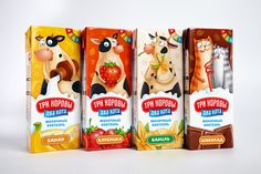Three cows, two cats #dairy #packaging