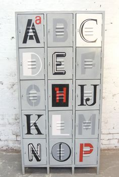 Alphabet Lockers