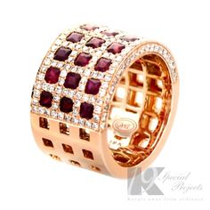 FERI MOSH Ennva Gold Ring Exclusive premium grade calibrated diamonds Set with carats of diamonds and carats of rubies Features FERI MOSH signature seamless micro pave setting Global Wealth Trade Opportunity Diamond Jewelry, Diamond Rings, Or Rose, Jewelry Design, Designer Jewelry, Bracelet Watch, Jewelery, Gold Rings, Just For You