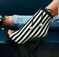 Striped Booties
