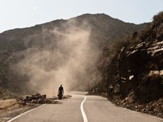 On the road, Atlas mountains, Morocco