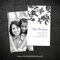 mommy calling card - neat idea