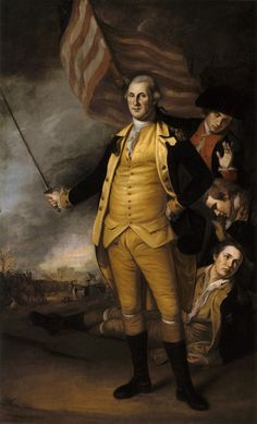 This vintage American History painting features General George Washington at the Battle of Princeton. The original was painted by Charles Willson Peale. American Independence, American Presidents, American War, Early American, American History, American Spirit, Conquistador, Independencia Usa, Continental Army