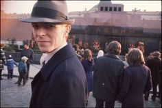 David Bowie at Red Square in Moscow, 1976.