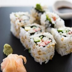 Step-by-step directions with photos to make the perfect California Roll (or any roll for that matter).