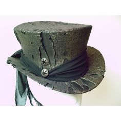 Top Hat Gold Black Spectacularly Gothic and Steampunk ❤ liked on Polyvore