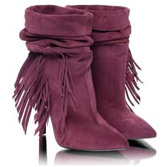 Fringed women's boots. Handmade suede women's boots. ($163) ❤ liked on Polyvore featuring shoes, boots, high heel shoes, stiletto boots, clear boots, burgundy suede boots and high heeled footwear