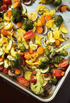 Roast some veggies to use in all of your meals throughout the week.