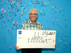 Lottery luck strikes twice for Quebec man who won millions Lottery Winner, Winning The Lottery, One Million Dollars, Lucky Man, Two By Two, Friday, Money, Baby