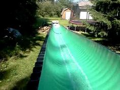 how to make a water slide coming from a house - Google Search