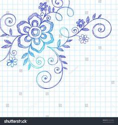 Love Hearts Frame Border Back To School Sketchy Notebook Doodles