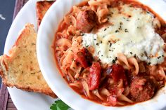 slow cooker lasagna soup - Back to Her Roots