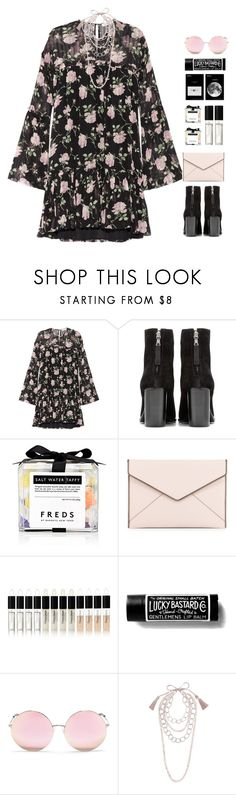 """*1236"" by cutekawaiiandgoodlooking ❤ liked on Polyvore featuring Ulla Johnson, rag & bone, FREDS at Barneys New York, Rebecca Minkoff, Natura Bissé, Matthew Williamson, NIGHTMARKET, anklebooties and darkflorals"