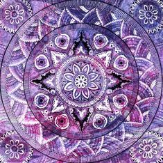 """mandala....Beautiful art...The Mandala (Sanskrit for """"circle"""" or """"completion"""") has a long history and is recognized for its deep spiritual meaning and representation of wholeness."""