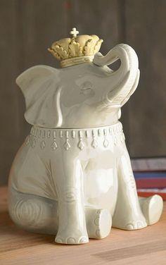 Cute elephant cookie jar
