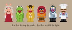 The Muppet Show Characters - Cross Stitch PDF Pattern Download