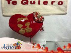 Manta oso, cojín oso y chocolates,  con amor.Regalos Amer. Envío a casa. México DF. 5524 6977