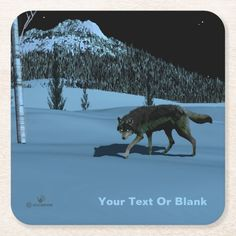 Shop Winter Wolf - Tapetum Lucidum Square Paper Coaster created by Personalize it with photos & text or purchase as is! Tapetum Lucidum, Wolf Walking, Snow Night, Winter Wolves, Snow Wolf, Wolf Eyes, Deep Sea Creatures, Photos Of Eyes, Wildlife Nature