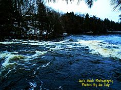 Raging Rapids at the chutes flowing into Isabella Lake East of orrville Ontario