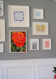 Gallery Wall with IKEA frames