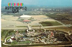 Astroworld amusement park, and the Astrodome, Houston, Texas