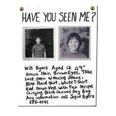 Will Byers Missing - Stranger Things