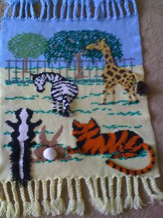 Crochet Patterns Zoo Animals : Zoo Crocheted Baby Blanket