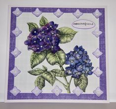Card created using Ultra Violet Flora Collection, made by Debbie Moran. www.craftworkcards.com Craftwork Cards, Ultra Violet, Card Ideas, Flora, Vogue, Collections, Tea, Inspiration, Biblical Inspiration