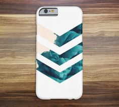 Blue Smoke Chevron Case for iPhone 6 6 Plus iPhone 5 5s 5c iPhone 4 4s Samsung Galaxy s5 s4 & s3 and Note 4 3 2