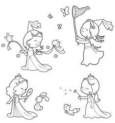 märchen: kostenlose malvorlage: verschiedene feen und elfen zum ausmalen | feen zeichnungen, fee