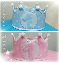 Coronas de cumpleaños para niño y niña