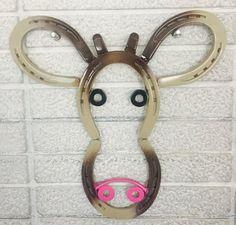 Metal Art Horseshoe Cow Barn Decor