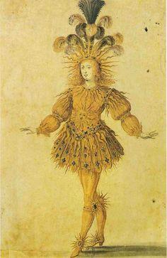 Louis XIV como apolo, dios del sol, 1653, Ballet Royal de la Nuit.
