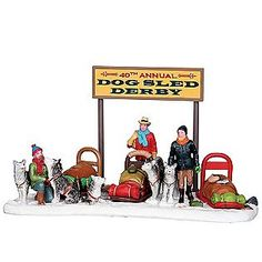 Lemax Village Collection -Christmas Village Accessory, Dog Sled Derby