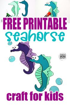 Looking for your next ocean theme preschool craft? Use our free printable seahorse template to make this fun ocean themed arts and craft project. You can even name him Mister Seahorse if you would like! This sea creature is especially fun to make with toddlers and kindergarten age kids too! #seahorse #seahorsecrafts #oceananimals #oceananimalcrafts #SimpleMomProject Seahorse Crafts, Sea Animal Crafts, Crab Crafts, Sun Crafts, Animal Crafts For Kids, Easy Crafts For Kids, Toddler Crafts, Toddler Activities, Craft Activities