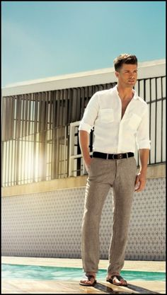 mens linen beach wedding attire - Mens Beach Wedding Attire for the Groom – Wedding and Bridal Inspiration Galleries
