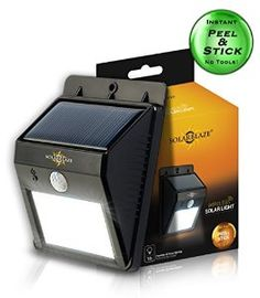 Solarblaze Bright SOLAR Powered Outdoor LED light auto on at night with motion sensor wireless security lighting NO TOOLS Easy Peel 'N Stick lights for patio outside wall stairs home RV deck Solar Powered Led Lights, Solar Lights, Solar House Numbers, Dog Food Brands, Dusk To Dawn, Patio Lighting, Shed Storage, Security Lighting, Like4like