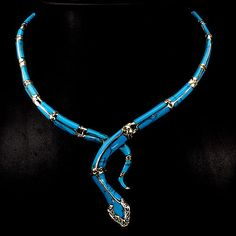 AWESOME NATURAL BLUE TURQUOISE,RUBY,MARCASITE STERLING 925 SILVER COBRA NECKLACE #Egemdiamond #Tennis