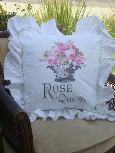 Our signature tattered ruffle pillow get one today. www.tatteredgoods.com