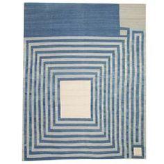 Blue Striped Rug, Kilim