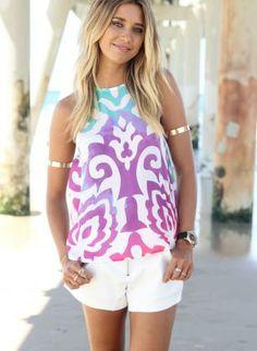 Printed Tank Top #chic #ustrendy #summer