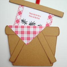 Picnic Invitations 10 Pack Customized by jeniOcreations on Etsy